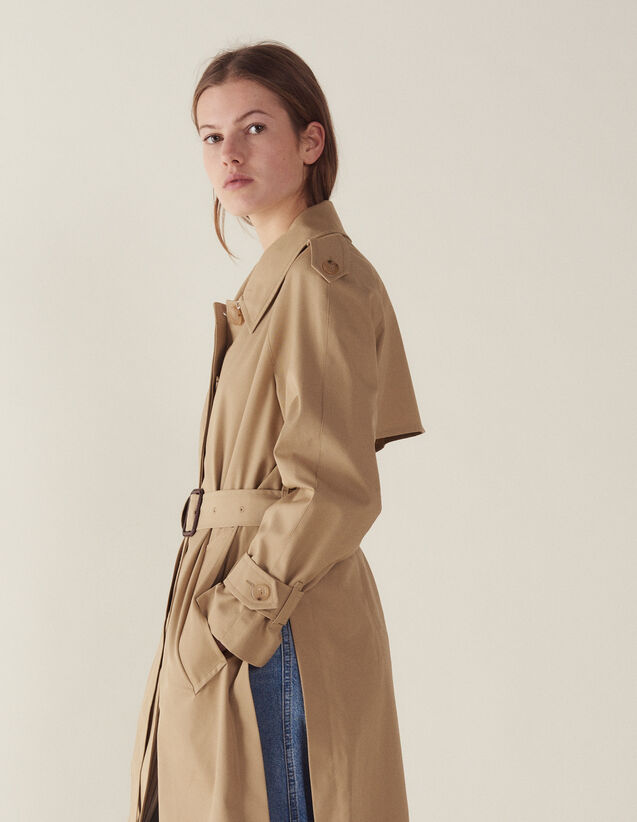 Mantel Im Trenchcoat-Stil Mit Gürtel : Mäntel farbe Beige