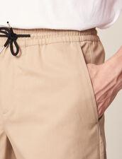 Bermudashorts Mit Zugband In Der Taille : Hosen & Shorts farbe Beige