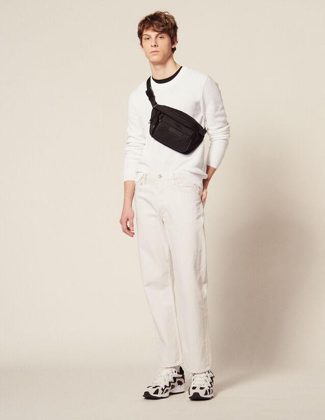 Pullover Aus Relief-Baumwollstrick : HSF-UK-PAP&ACCESS farbe Weiß