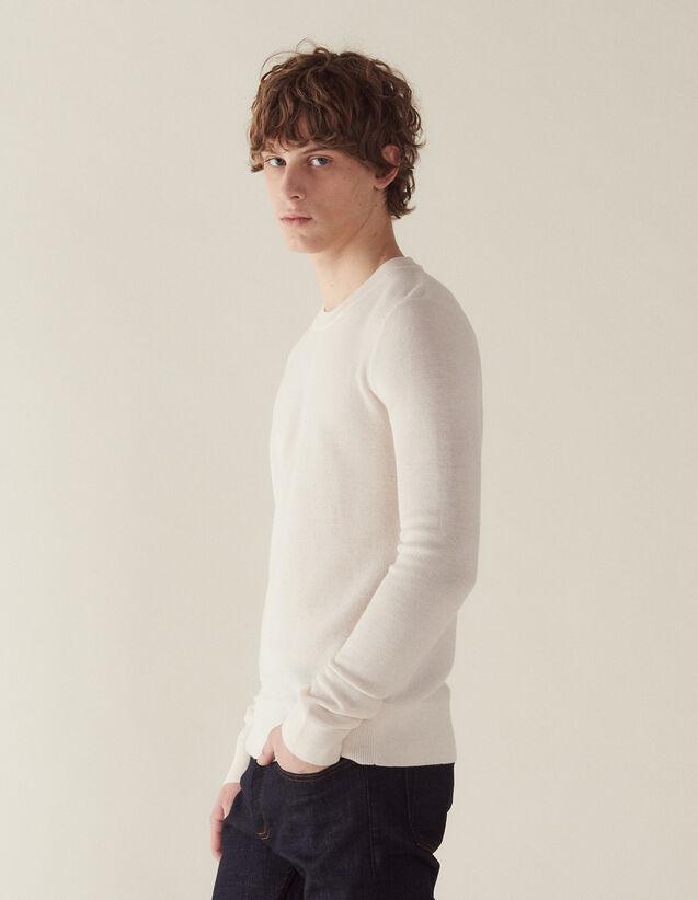Dünner Pullover Mit Zierstich : Sélection Last Chance farbe Cremeweiß