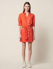 Kurzes Kleid Mit Asymmetrischer Knöpfung : null farbe Schwarz