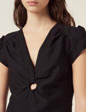 Kurzes Kleid Mit Tiefem Ausschnitt : null farbe Schwarz