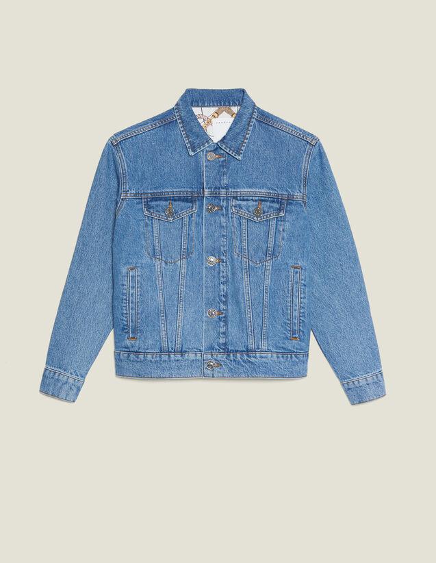 Jeansjacke Mit Maskuliner Passform : Blousons & Jacken farbe Blue Vintage - Denim
