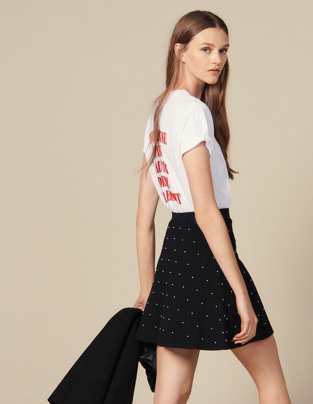 Kurzer Strickrock : Röcke & Shorts farbe Schwarz