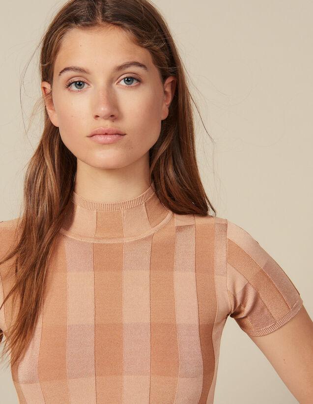 Pullover Mit Stehkragen, Kurze Ärmel : New In farbe Hautfarbe