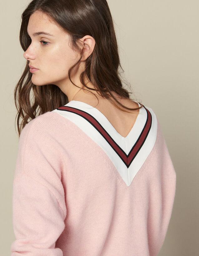 Pullover Mit Kontraststreifen : FBlackFriday-FR-FSelection-Pulls&Cardigans farbe Rosa