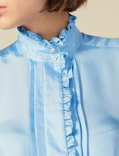 Seidenhemdbluse Mit Rüschen : Tops & Hemden farbe Ciel
