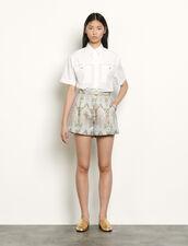 Ausgestellte Shorts aus Brokat : Röcke & Shorts farbe Or / Bleu