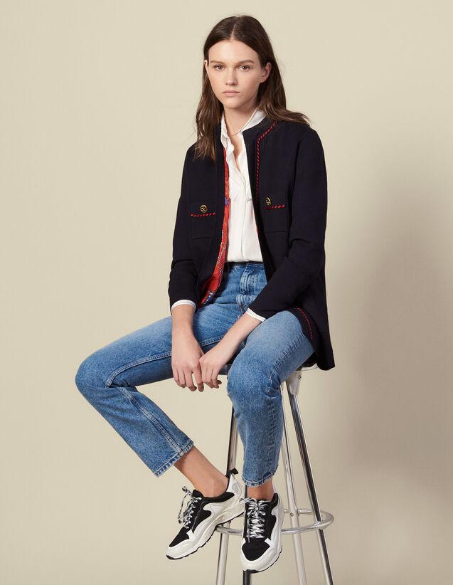 Gerade geschnittener Cardi-Coat : Pullover & Cardigans farbe Marine
