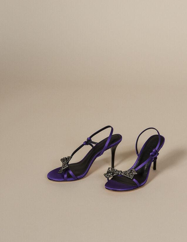 Sandalen Aus Satin Mit Strassschleife : Schuhe farbe Lilas