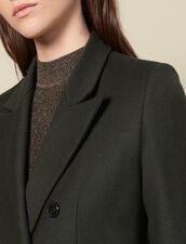 Langer Wollmantel : LastChance-ES-F30 farbe Khaki