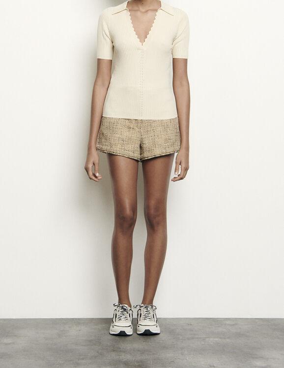 Pullover im Polo-Stil : Pullover & Cardigans farbe Ecru