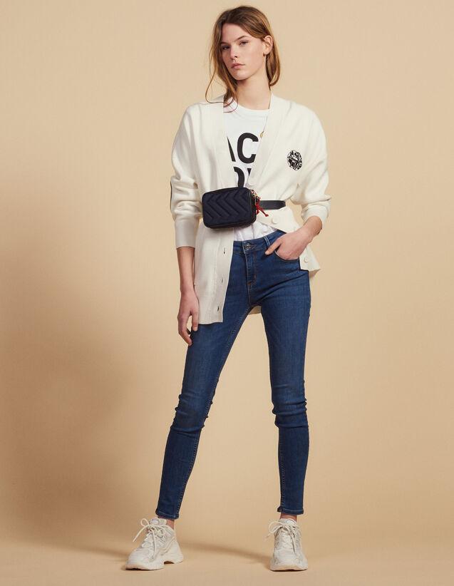 Blaue Slim-Jeans : Jeans farbe Blue Vintage - Denim
