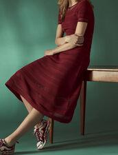 Halblanges Strickkleid : Jede Auswahl farbe Rouge Cuit