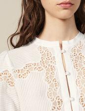 Hemdbluse Aus Spitzenmix : Tops & Hemden farbe Ecru
