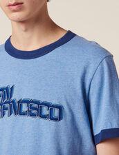 T-Shirt Mit Schriftzug : LastChance-FR-H40 farbe Sky Blue