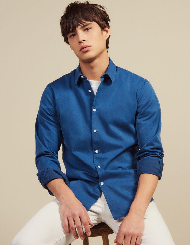 Casual-Hemd Aus Verwaschenem Chambray : Hemden farbe Blue Vintage - Denim
