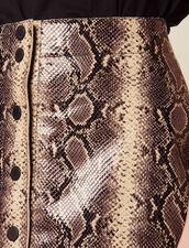 Kurzer Lederrock Mit Pythonprint : Röcke & Shorts farbe Python