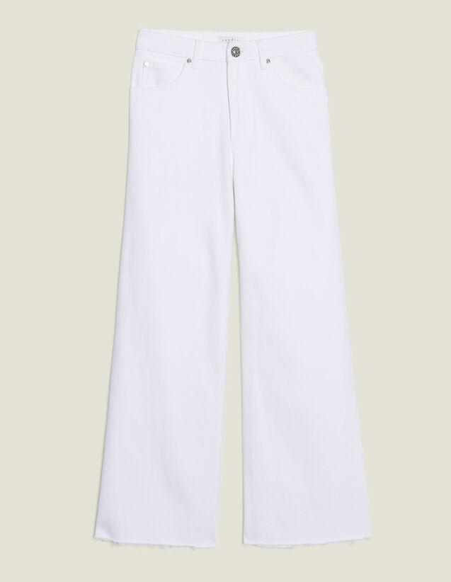 Ausgestellte Jeans Mit Hoher Taille : Jeans farbe Weiß