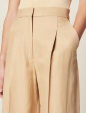 Weite Bundfaltenhose : LastChance-FR-FSelection farbe Beige