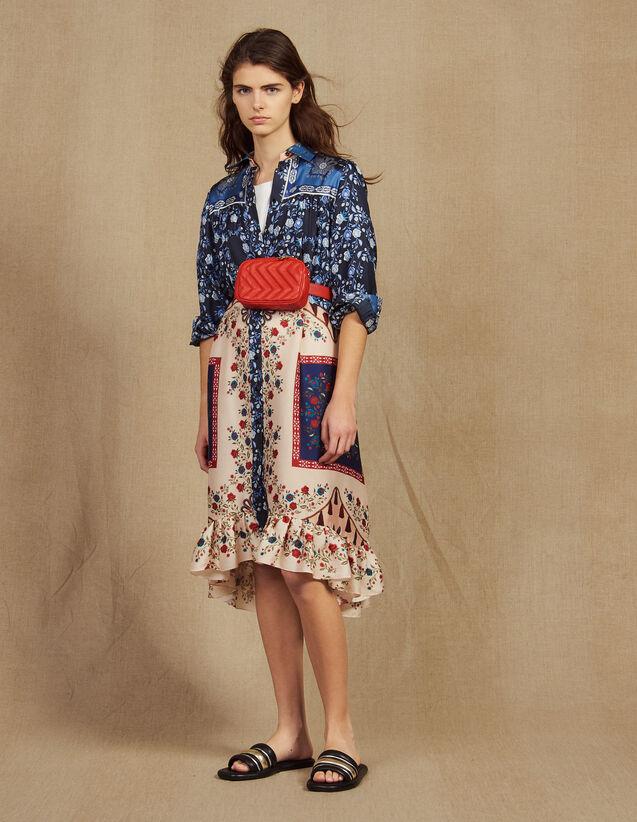 Hemdkleid Mit Print-Mix : Kleider farbe Bunt