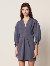 Kurzes Kleid Mit Schmalen Streifen : Kleider farbe Blau