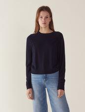 Pullover Aus Wolle Mit Langen Ärmeln : null farbe Rot