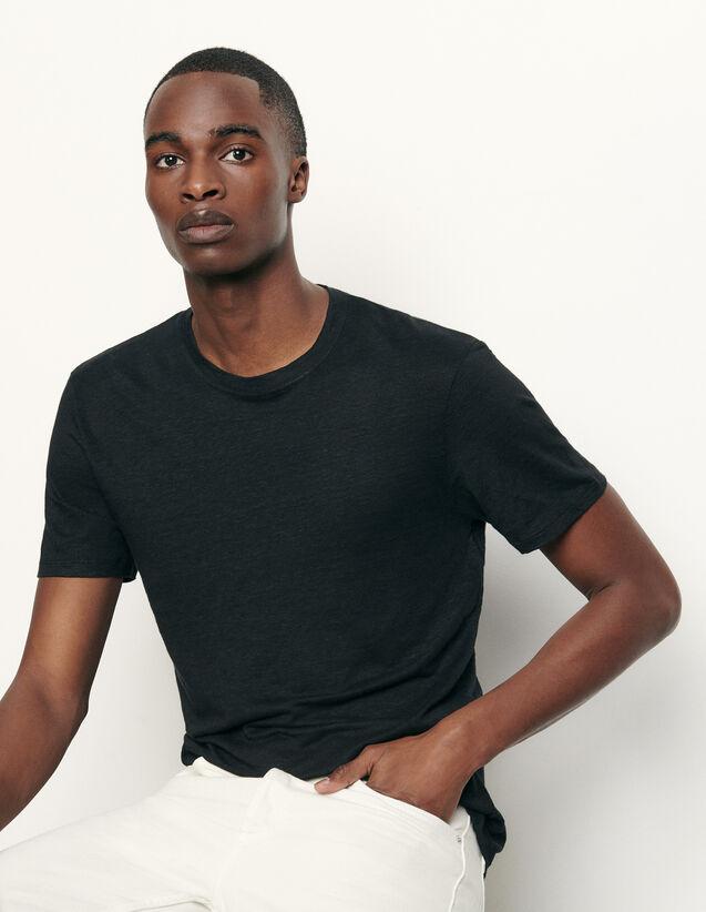 T-Shirt aus Leinen : T-Shirts & Polos farbe Schwarz