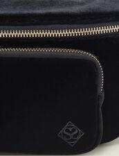 Gürteltasche Aus Velours : Taschen farbe Schwarz