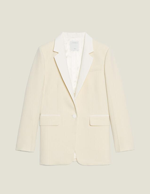 Blazer Mit Kontrast-Kragen : Blousons & Jacken farbe Ecru