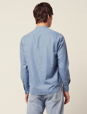 Tunikahemd Aus Verwaschenem Chambray : HSF-UK-PAP&ACCESS farbe Blue Vintage - Denim