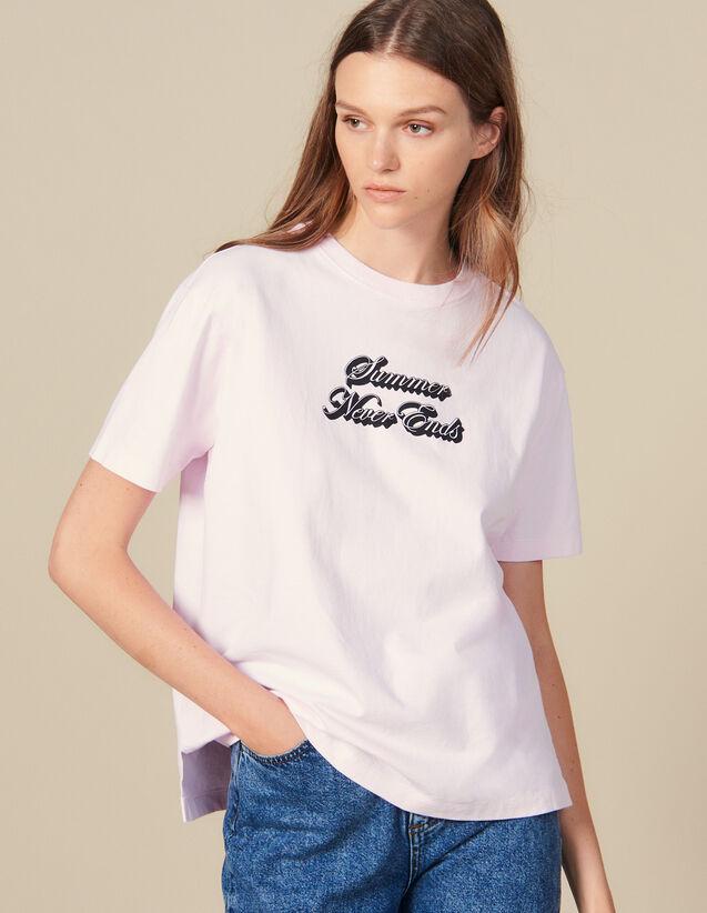 T-Shirt Mit Schriftzug : LastChance-ES-F50 farbe Rosa