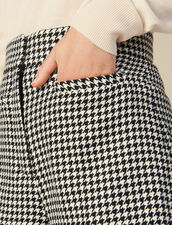 Passende Shorts mit Hahnentrittmuster : LastChance-ES-F40 farbe Schwarz