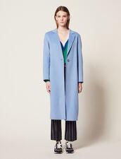 Doubleface-Mantel Aus Wolle : Mäntel farbe Sky Blue