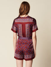 Kurzer Jumpsuit Mit Print : Overalls farbe Bordeaux