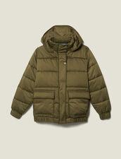 Gesteppte Oversize-Daunenjacke : LastChance-ES-F50 farbe Khaki