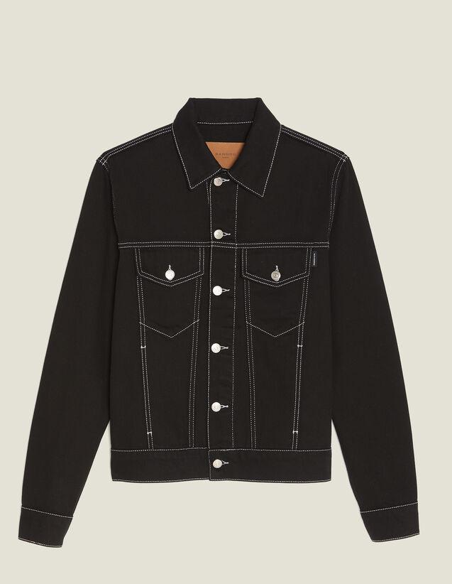 Jacke Aus Denim-Toile : Blousons & Jacken farbe Schwarz