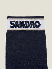 Lurex-Strümpfe Mit Sandro Logo : Socken farbe Marine