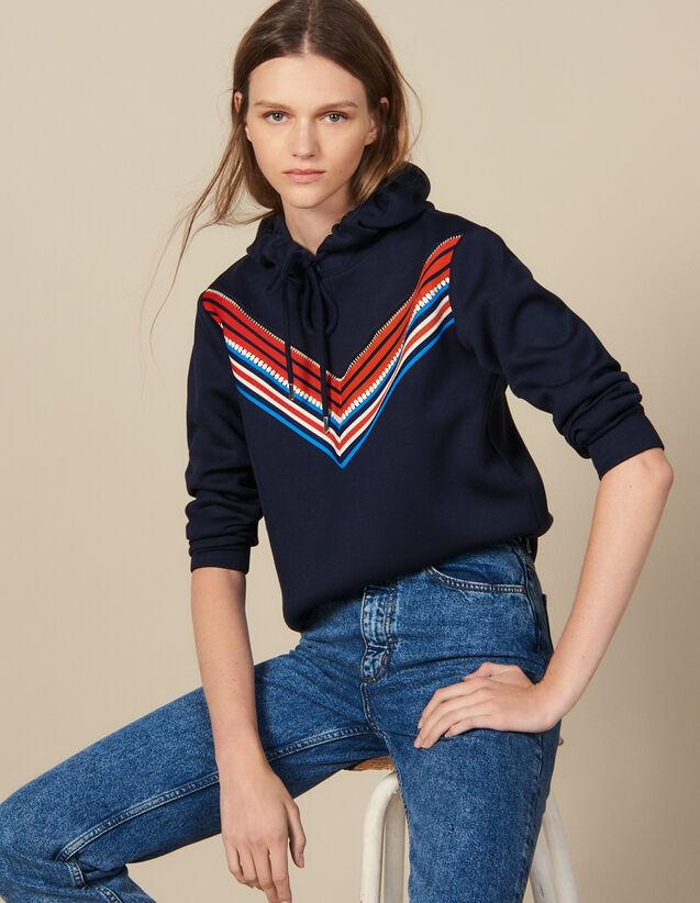 Sweatshirt Mit Streifenborte : Sweatshirts farbe Marine