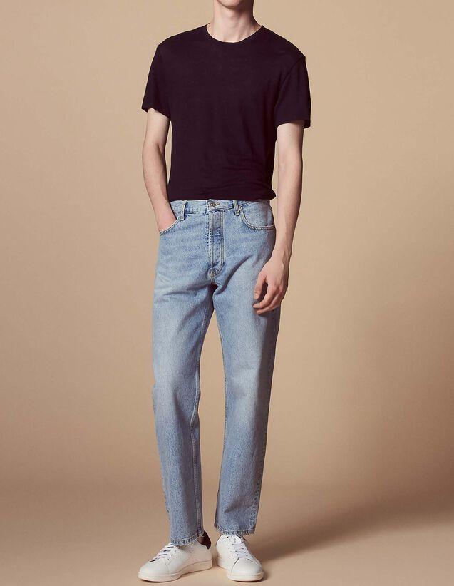 Hellblaue Jeans mit geradem Schnitt : Jede Auswahl farbe Hellblau