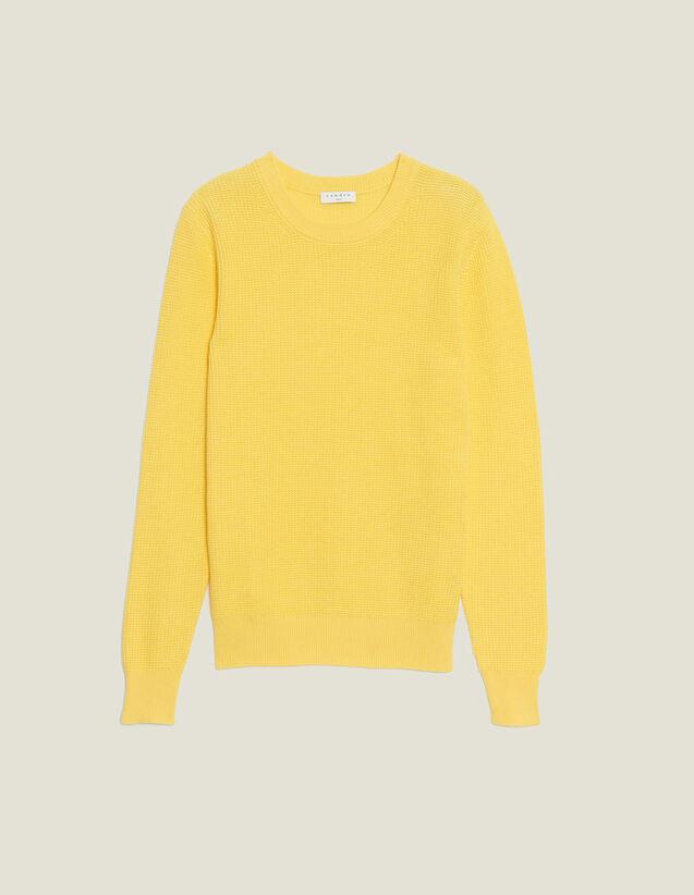 Pullover Aus Relief-Baumwollstrick : Pullovers & Cardigans farbe Weiß