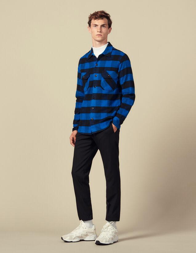 Hemd aus Baumwolle mit Karomuster : Winterkollektion farbe Blau