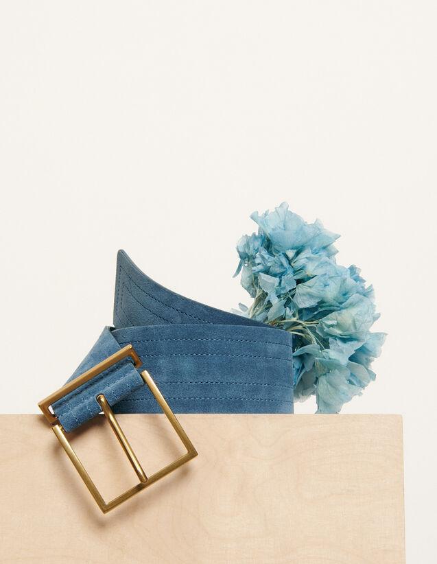Breiter Gürtel : Sommer Kollektion farbe Bleu Denim