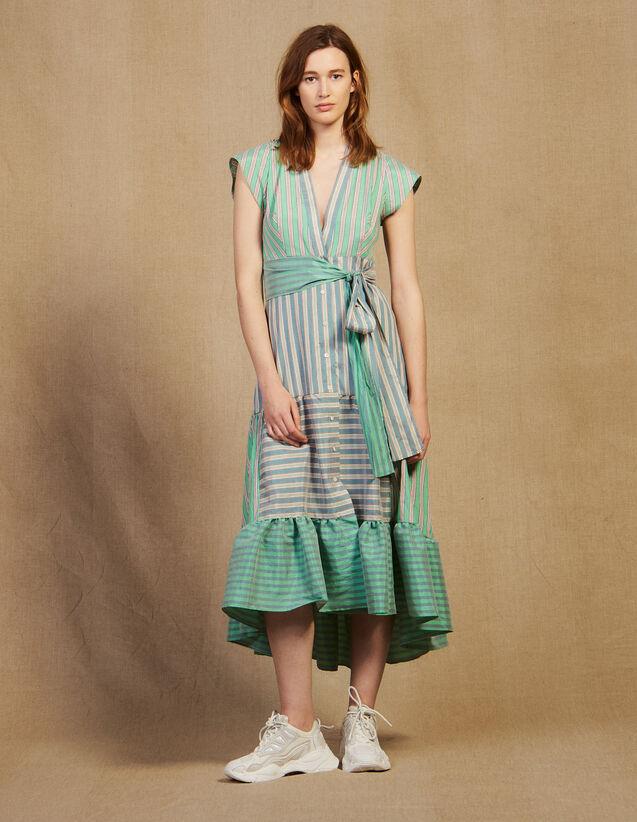 Wickelkleid Mit Streifen : Kleider farbe Grün