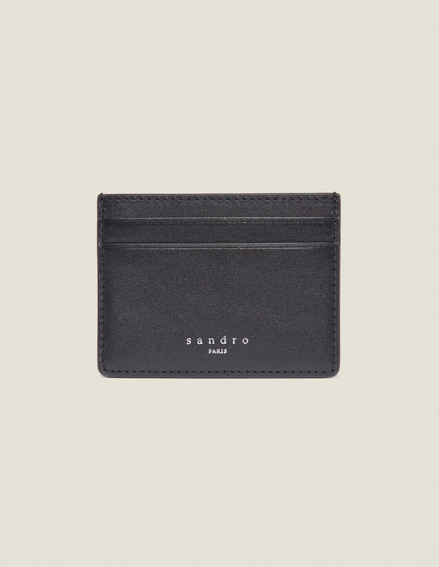 Kartenetui Aus Glattleder : Kartenhalter & Brieftaschen farbe Schwarz