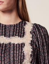 Bedruckte Bluse Mit 3/4-Ärmeln : null farbe Schwarz