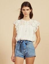 Shorts Aus Jeans Mit Halstuchgürtel : null farbe Blue Vintage - Denim