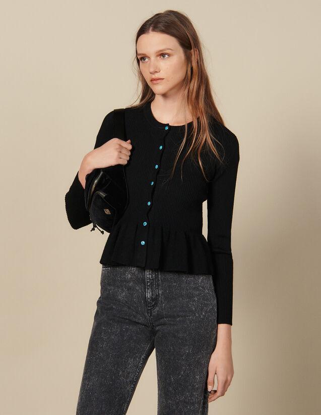 Cardigan Aus Rippstrick : Pullover & Cardigans farbe Schwarz