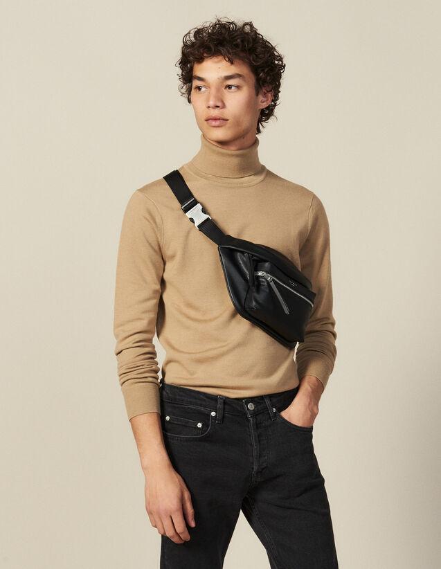 Rollkragenpullover Aus Wolle : Pullovers & Cardigans farbe Rosa