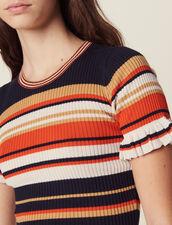 Stricktop Mit Streifen : null farbe Terrakotta